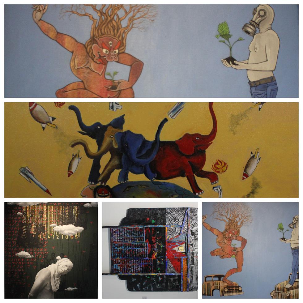 Tiệc hội họa thịnh soạn của các nghệ sĩ châu Á tiêu biểu tại Hà Nội - Ảnh 1.