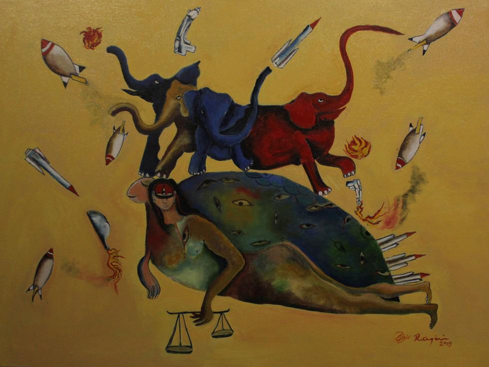 Tiệc hội họa thịnh soạn của các nghệ sĩ châu Á tiêu biểu tại Hà Nội - Ảnh 4.