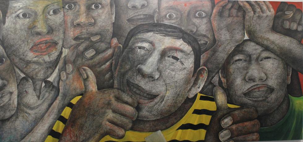 Tiệc hội họa thịnh soạn của các nghệ sĩ châu Á tiêu biểu tại Hà Nội - Ảnh 7.