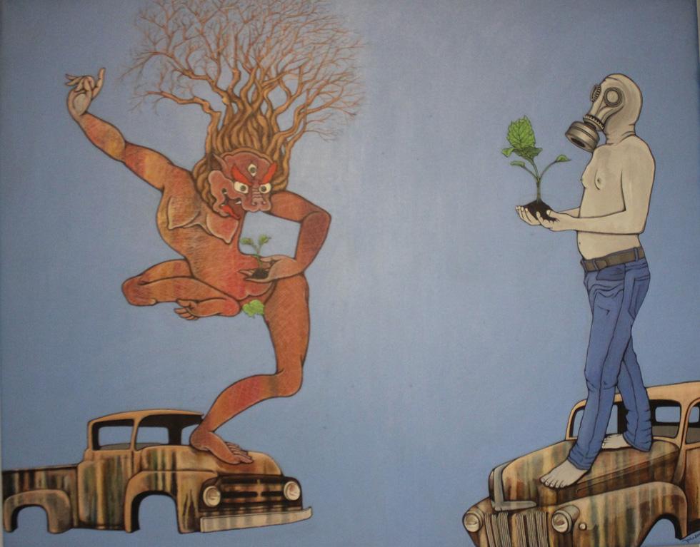 Tiệc hội họa thịnh soạn của các nghệ sĩ châu Á tiêu biểu tại Hà Nội - Ảnh 2.