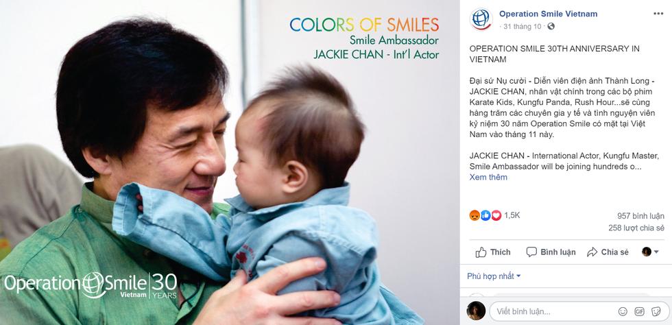 Operation Smile nói gì về việc cộng đồng mạng phản đối Thành Long sang Việt Nam? - Ảnh 5.