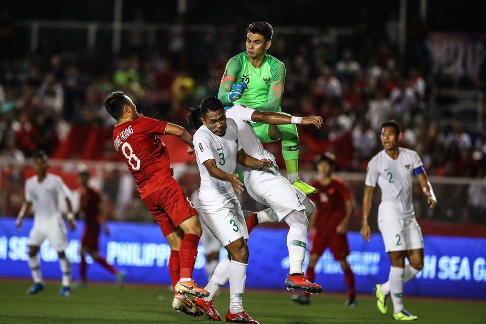 Những tình huống nghẹt thở trong trận thắng của U22 Việt Nam trước U22 Indonesia - Ảnh 9.
