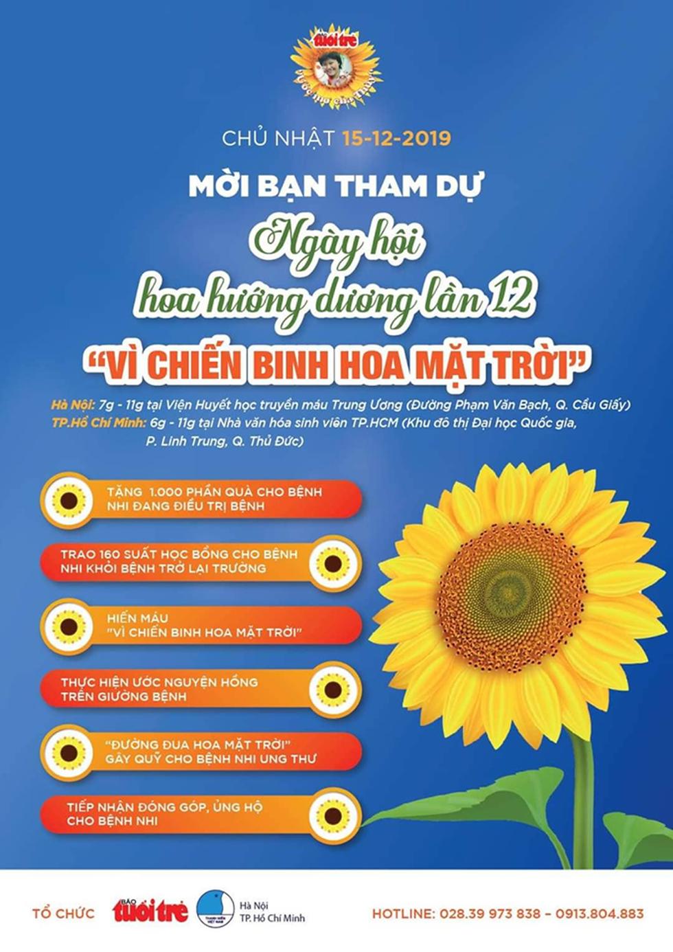 Đường đua hoa mặt trời vì bệnh nhi ung thư - Ảnh 3.