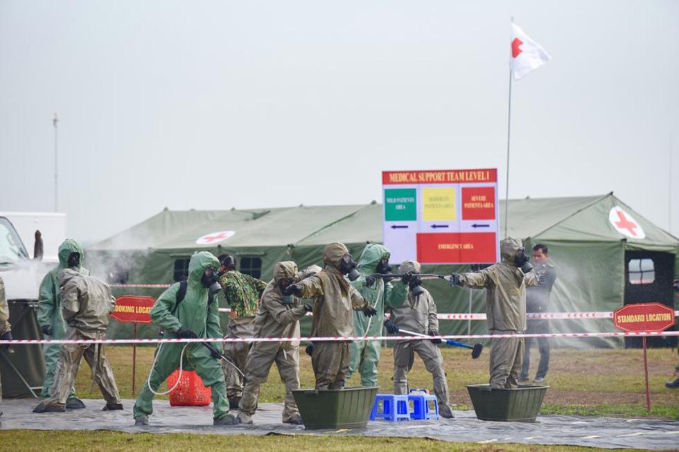 2.000 binh sĩ và người dân Việt Nam và Campuchia diễn tập cứu nạn tại biên giới - Ảnh 4.