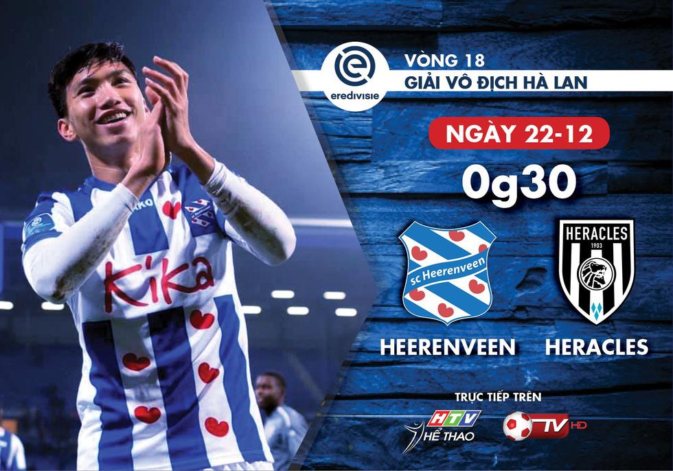 Lịch truyền hình Văn Hậu và CLB Heerenveen ở Giải vô địch quốc gia Hà Lan - Ảnh 1.