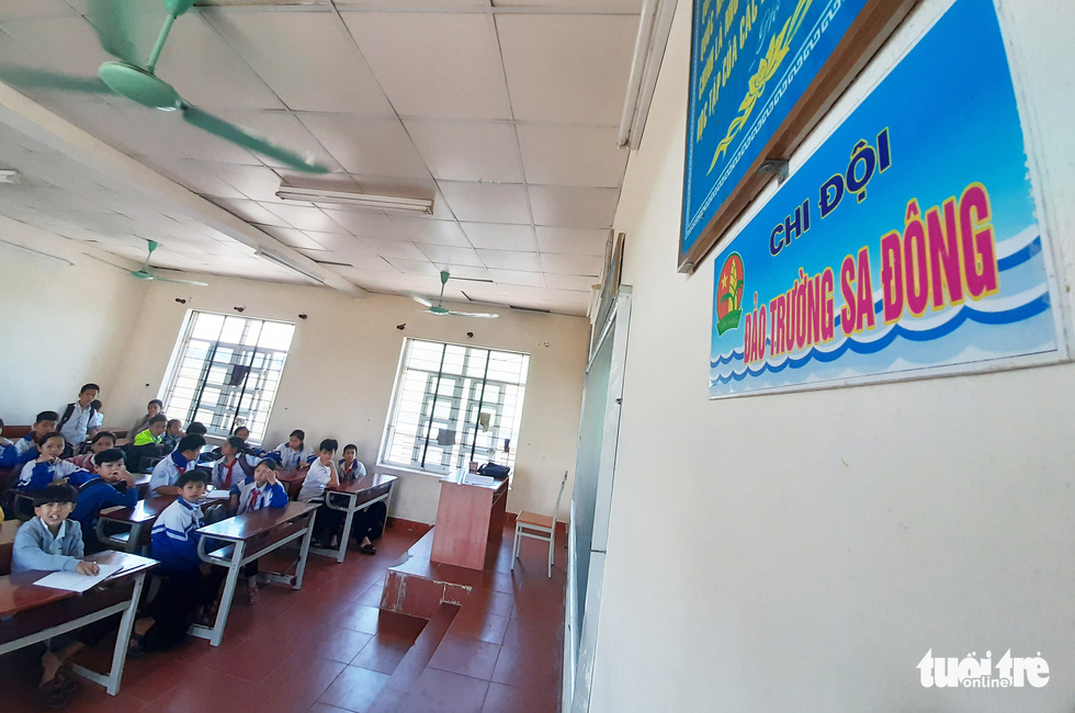 16 lớp học đặt tên theo các đảo ở Trường Sa, Hoàng Sa - Ảnh 1.