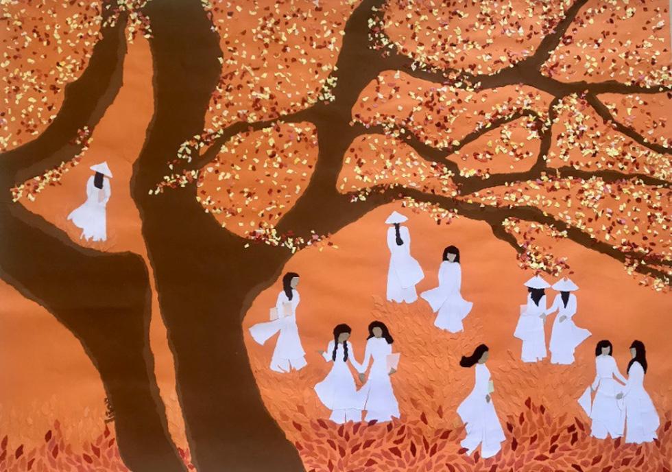 Xem tranh, ảnh đẹp như thơ trong triển lãm Chuyện áo dài - Ảnh 6.