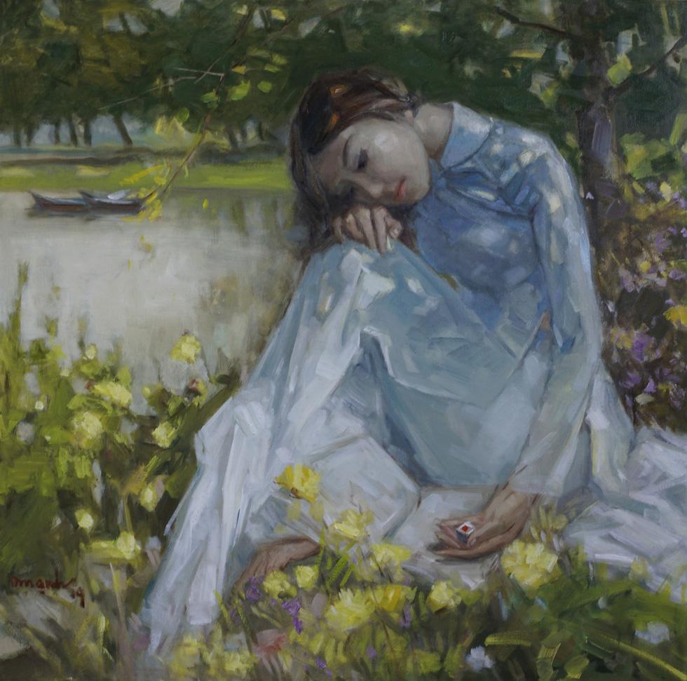 Xem tranh, ảnh đẹp như thơ trong triển lãm Chuyện áo dài - Ảnh 2.