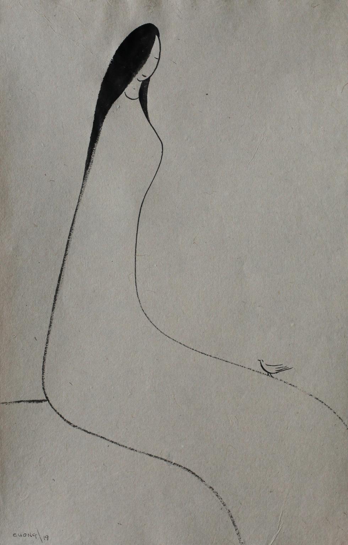 Xem tranh, ảnh đẹp như thơ trong triển lãm Chuyện áo dài - Ảnh 3.