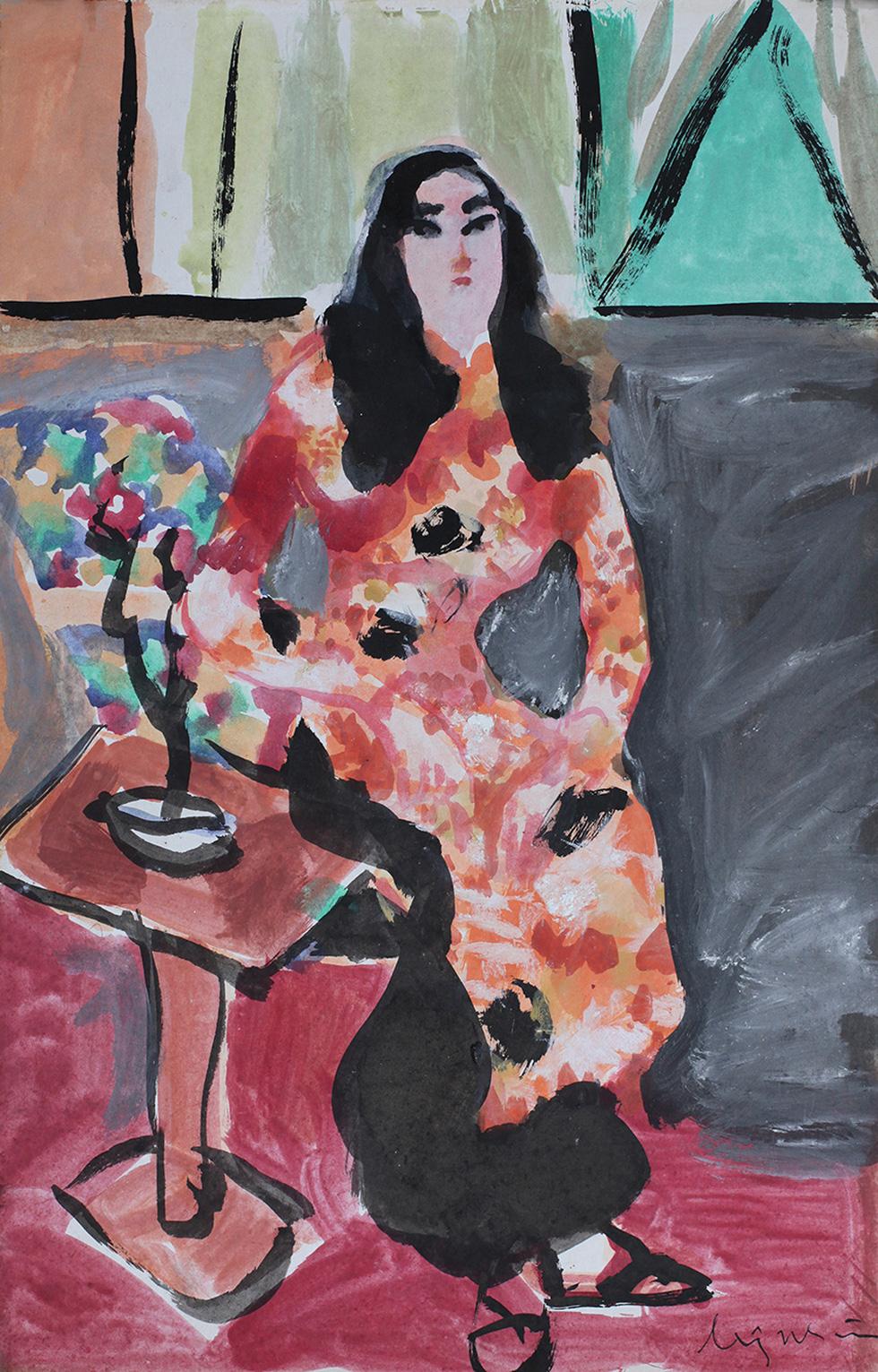 Xem tranh, ảnh đẹp như thơ trong triển lãm Chuyện áo dài - Ảnh 9.