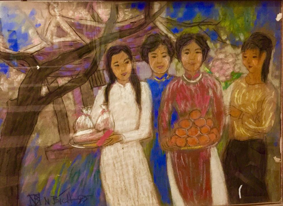 Xem tranh, ảnh đẹp như thơ trong triển lãm Chuyện áo dài - Ảnh 10.