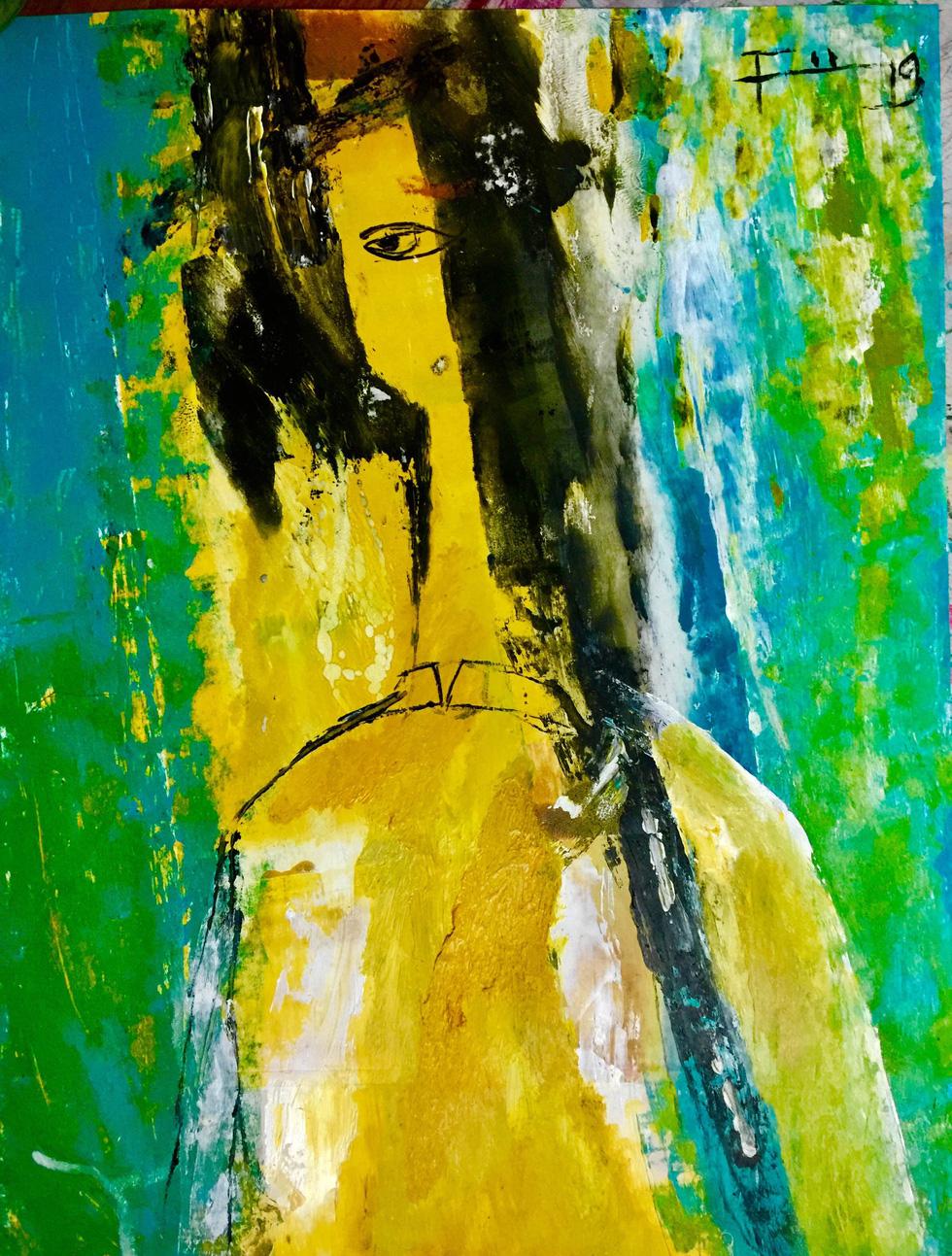 Xem tranh, ảnh đẹp như thơ trong triển lãm Chuyện áo dài - Ảnh 11.
