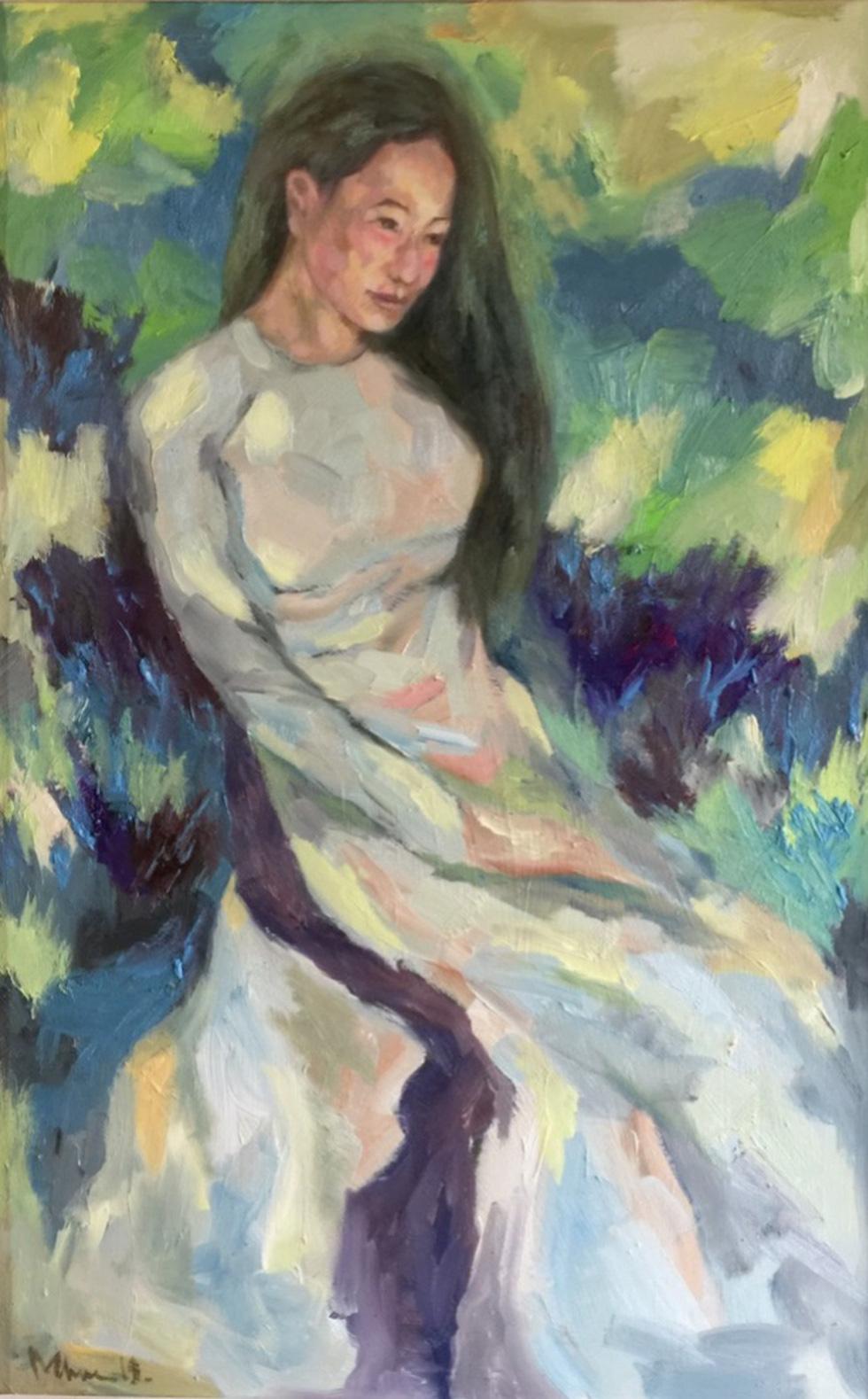 Xem tranh, ảnh đẹp như thơ trong triển lãm Chuyện áo dài - Ảnh 12.