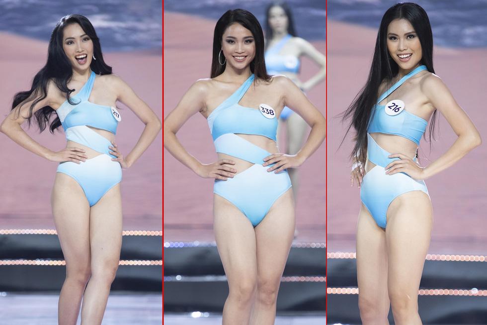 45 thí sinh Hoa hậu Hoàn vũ Việt Nam 2019 nóng bỏng trình diễn bikini - Ảnh 9.