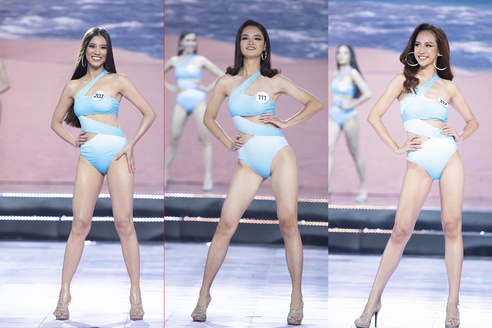 45 thí sinh Hoa hậu Hoàn vũ Việt Nam 2019 nóng bỏng trình diễn bikini - Ảnh 10.