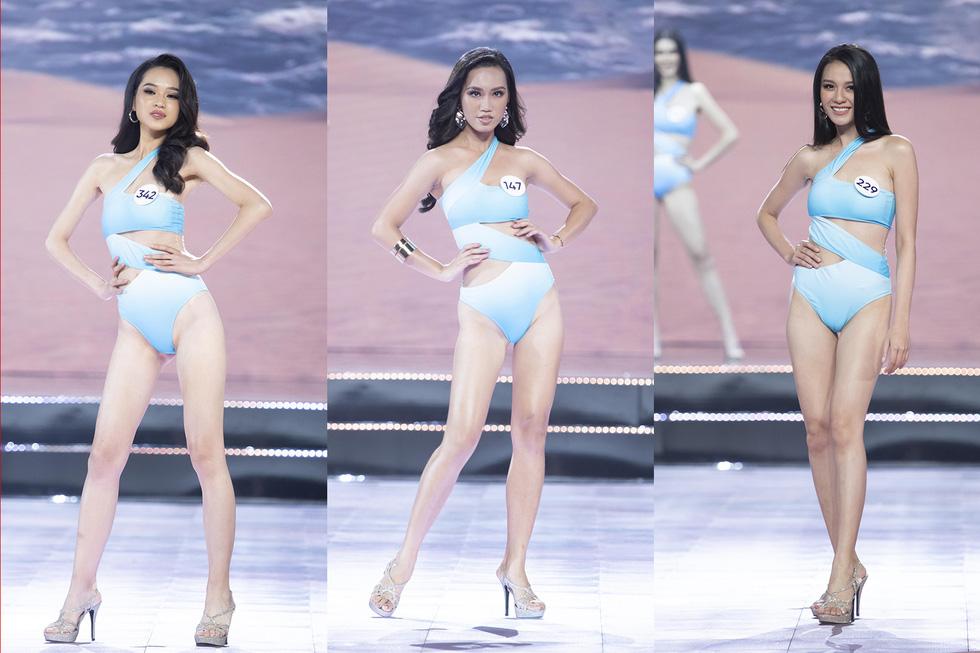 45 thí sinh Hoa hậu Hoàn vũ Việt Nam 2019 nóng bỏng trình diễn bikini - Ảnh 11.