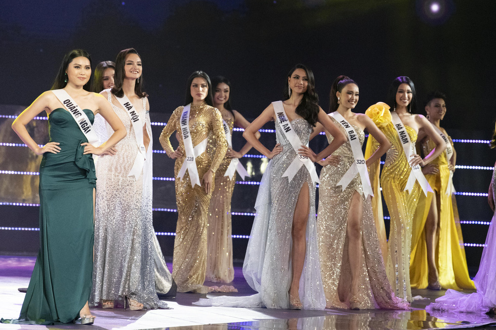 45 thí sinh Hoa hậu Hoàn vũ Việt Nam 2019 nóng bỏng trình diễn bikini - Ảnh 14.