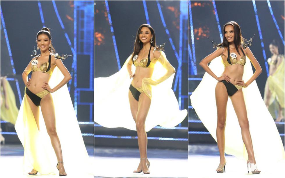 Trình diễn bikini của Top 15 Hoa hậu Hoàn vũ Việt Nam 2019 - Ảnh 1.