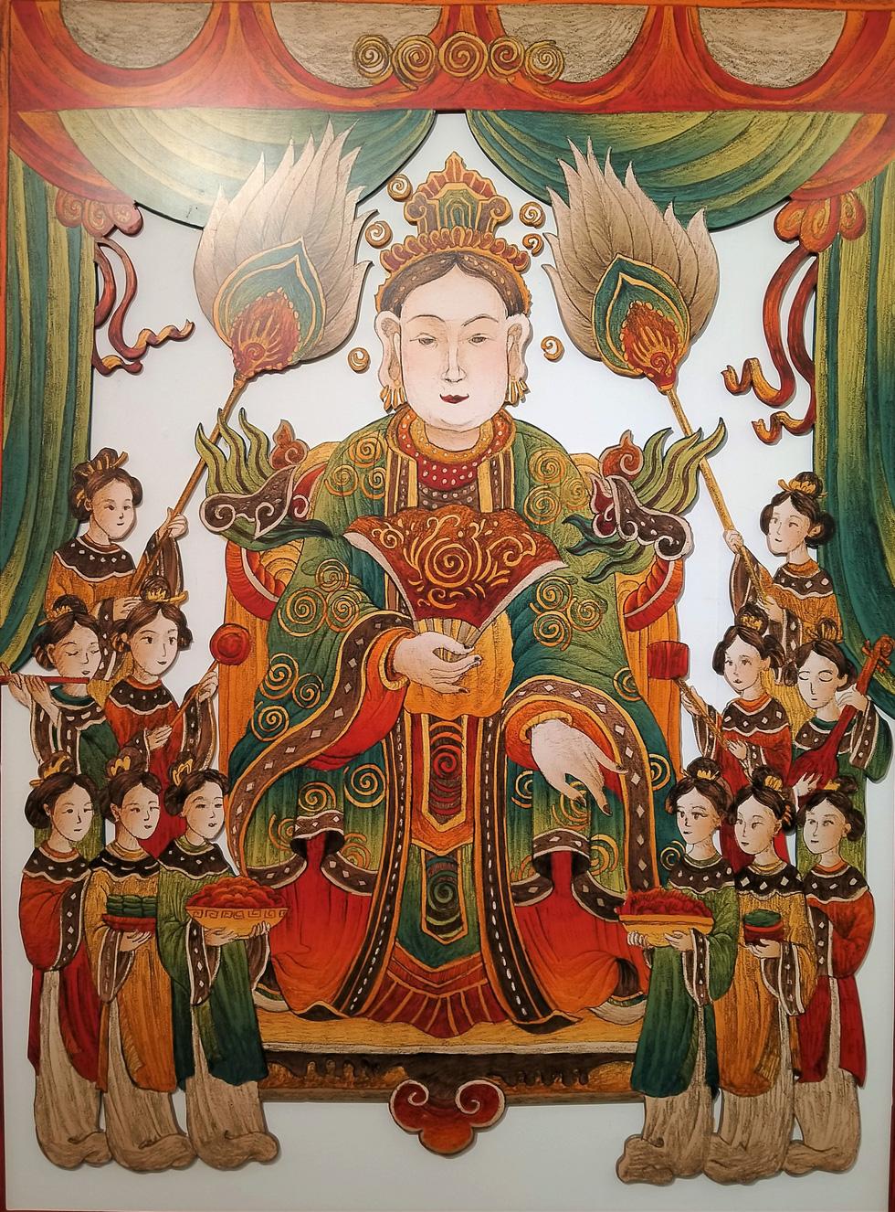 Ngắm Bà Trưng, Bà Triệu, tố nữ mắt to tròn, mặt V-line trong tranh Xuân Lam - Ảnh 7.