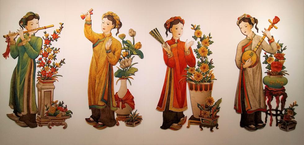 Ngắm Bà Trưng, Bà Triệu, tố nữ mắt to tròn, mặt V-line trong tranh Xuân Lam - Ảnh 10.