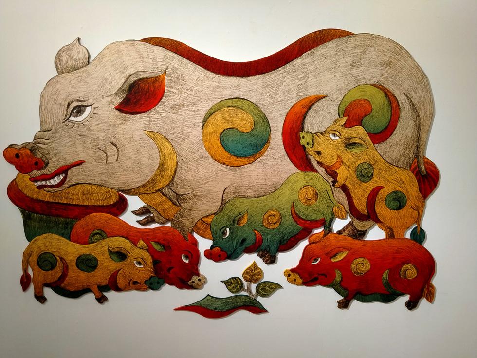 Ngắm Bà Trưng, Bà Triệu, tố nữ mắt to tròn, mặt V-line trong tranh Xuân Lam - Ảnh 12.