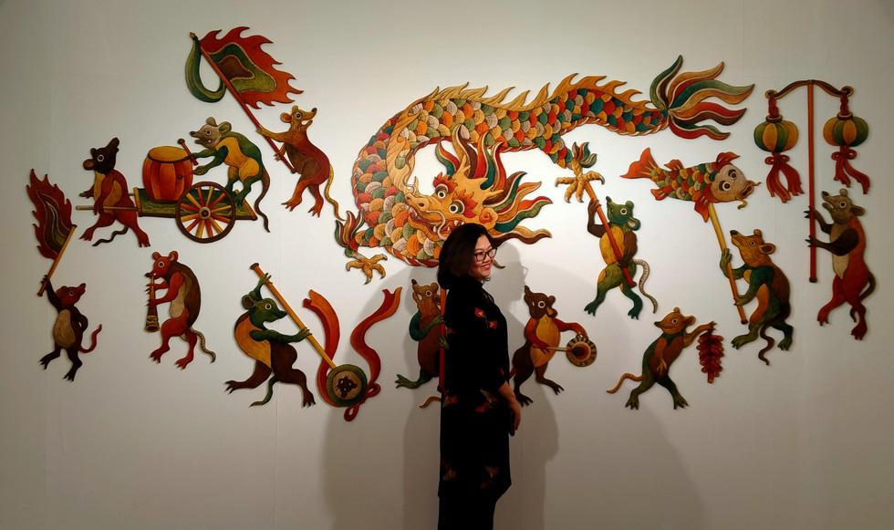 Ngắm Bà Trưng, Bà Triệu, tố nữ mắt to tròn, mặt V-line trong tranh Xuân Lam - Ảnh 18.