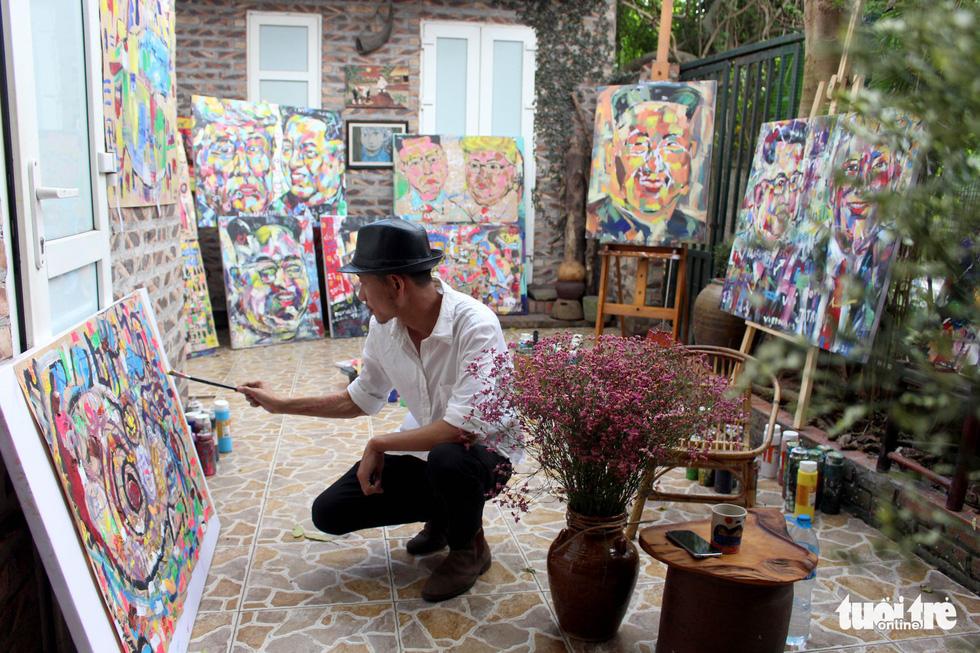 Lãnh đạo Mỹ và Triều Tiên trong thông điệp hòa bình của họa sĩ Việt - Ảnh 8.