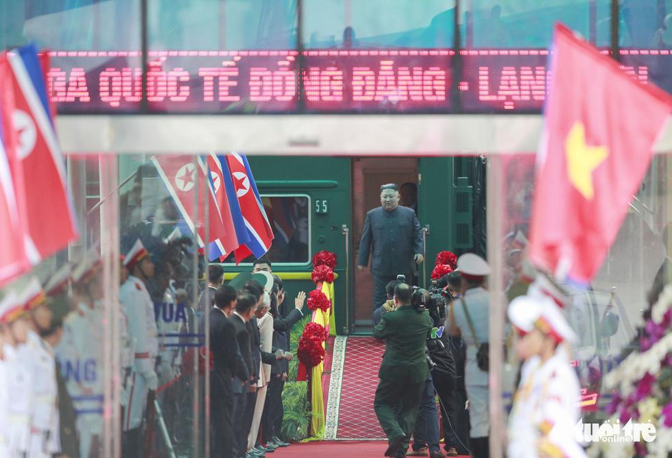 Chủ tịch Kim Jong Un nói gì khi đặt chân đến Việt Nam? - Ảnh 1.