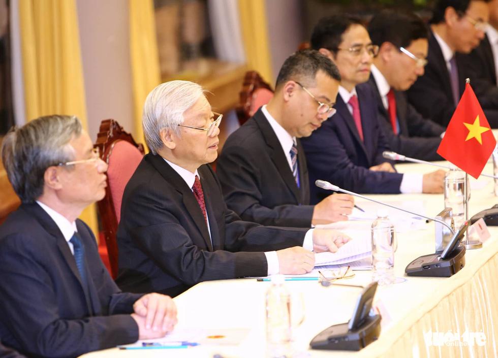 Tổng bí thư, Chủ tịch nước Nguyễn Phú Trọng hội đàm với Chủ tịch Kim Jong Un - Ảnh 4.
