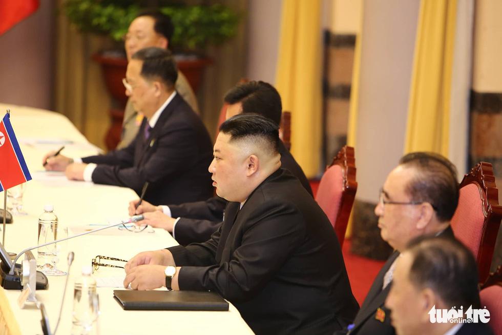 Tổng bí thư, Chủ tịch nước Nguyễn Phú Trọng hội đàm với Chủ tịch Kim Jong Un - Ảnh 5.