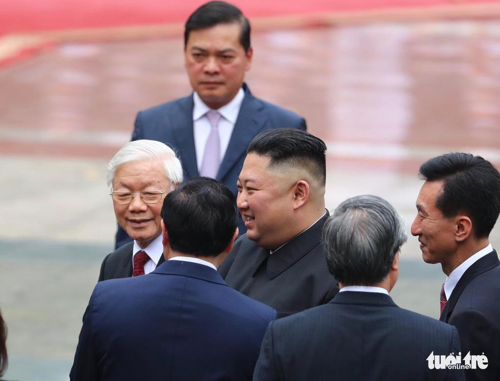 Tổng bí thư, Chủ tịch nước Nguyễn Phú Trọng hội đàm với Chủ tịch Kim Jong Un - Ảnh 7.