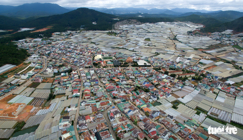 Dalat looked up from the flycam: an exact city, but not a city in the woods? - Photo 13.