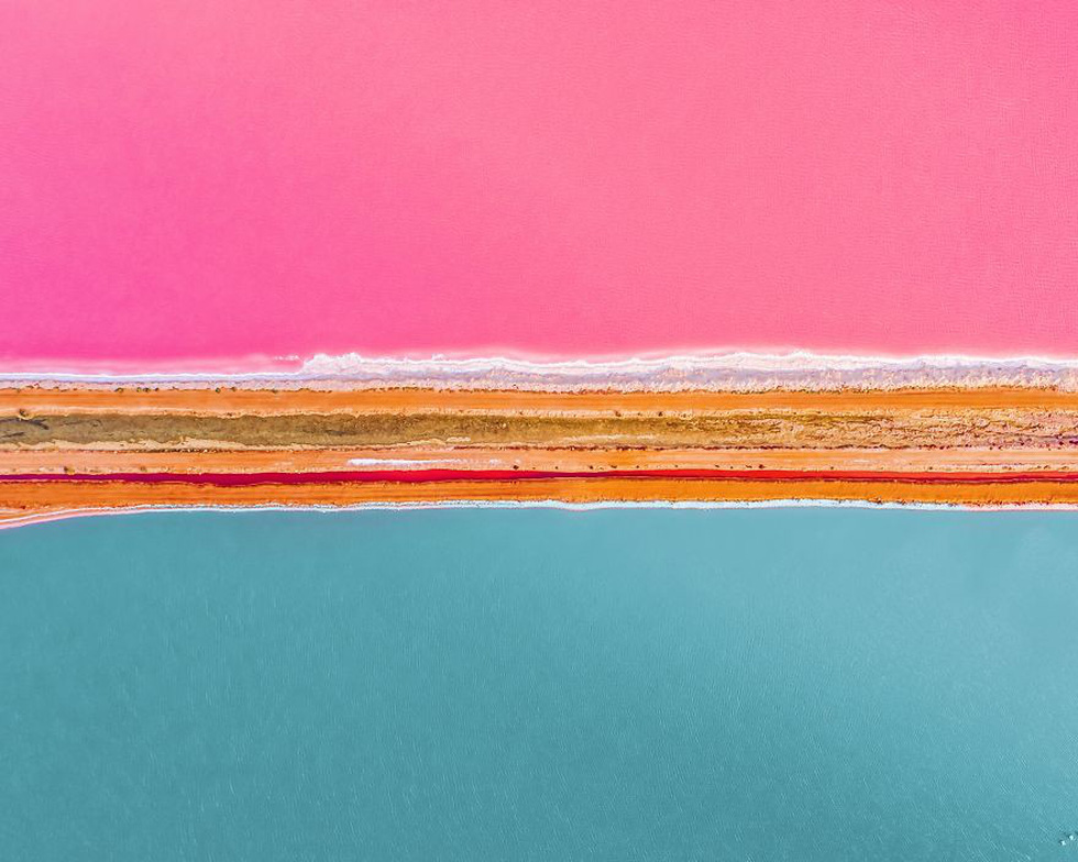 Kỳ lạ hồ nước màu hồng, đỏ, cam theo giờ - Ảnh 2.