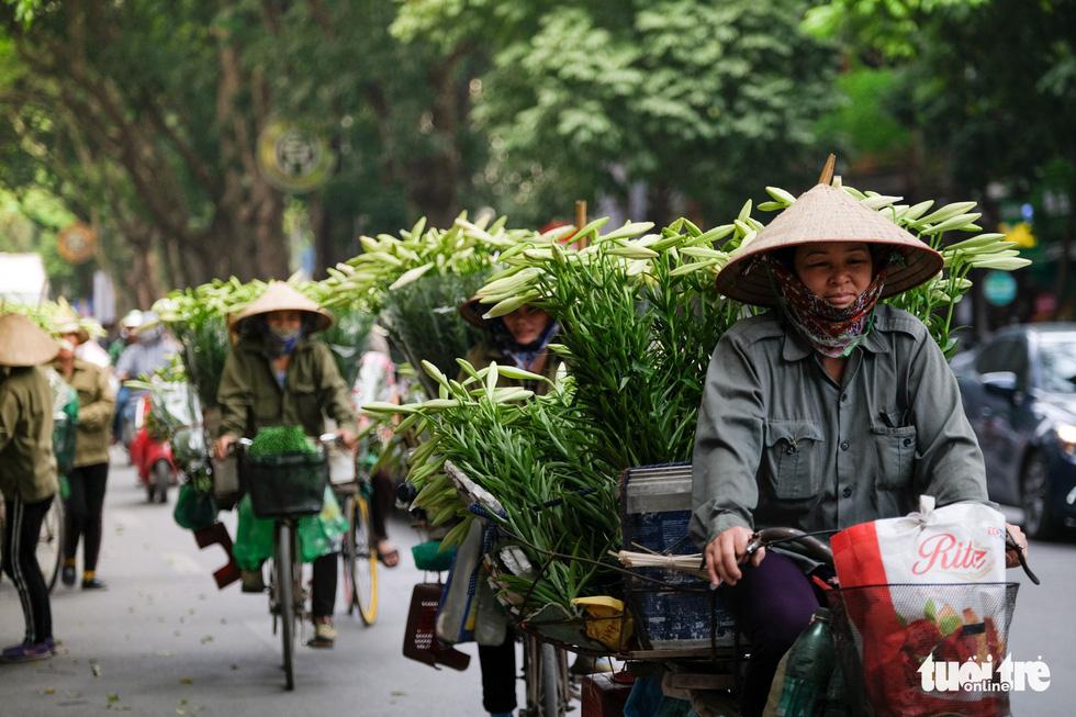 Hoa loa kèn gọi tháng 4 khắp phố phường Hà Nội - Ảnh 1.
