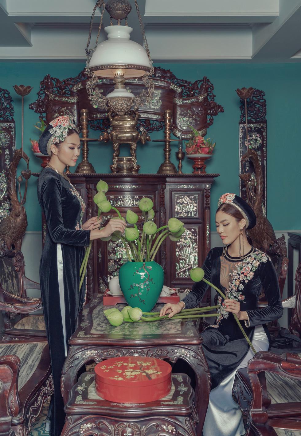 Lan Khuê, Thanh Hằng diện áo dài Nam Kỳ lục tỉnh - Ảnh 10.