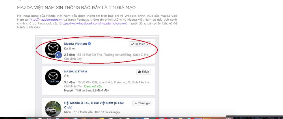 Mazda Việt Nam lên tiếng về tin trúng xe Mazda và 300 triệu trên Facebook - Ảnh 1.