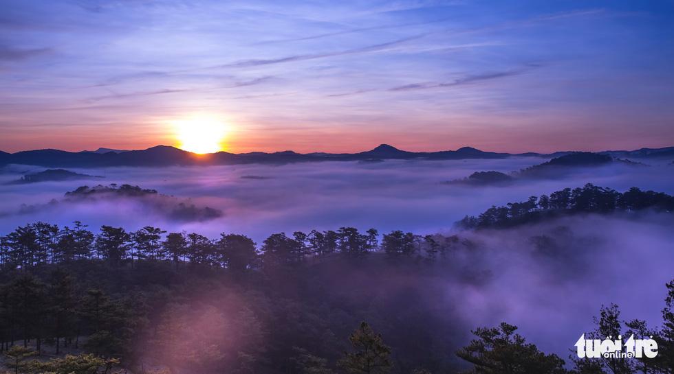Đà Lạt đẹp kỳ ảo mùa sông mây - Ảnh 7.