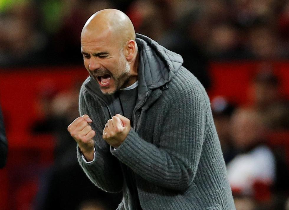 HLV Guardiola nhìn về chức vô địch sau trận derby Manchester - Ảnh 9.