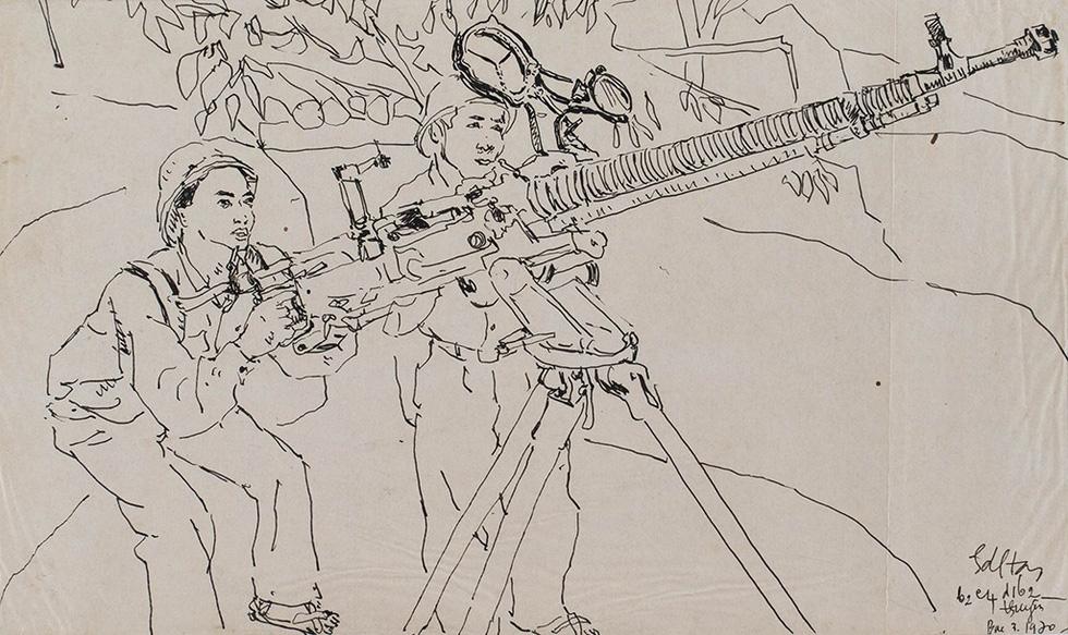 Những ký họa cháy bỏng giữa đường Trường Sơn - Ảnh 1.