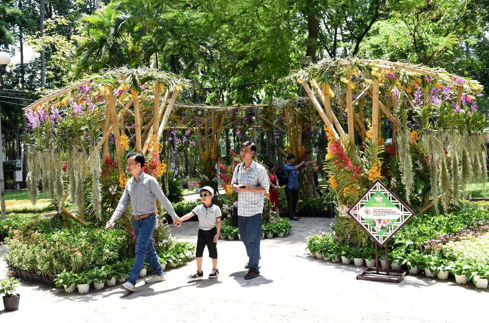 Check-in công viên Tao Đàn ngắm hoa lan trong Sắc màu nhiệt đới - Ảnh 2.