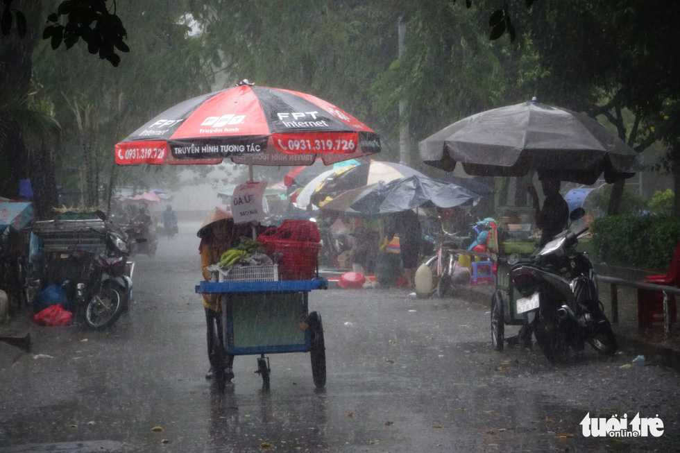 Heavy rain in many areas, cooling for holidays Ho Chi Minh City - photo 1.