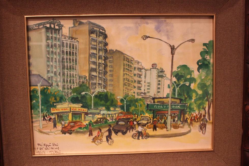 Ngắm Sài Gòn rực rỡ trong tranh Bùi Xuân Phái - Ảnh 4.