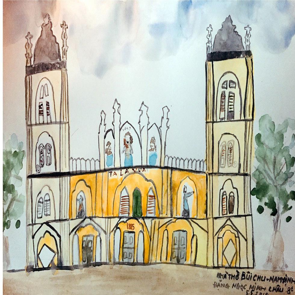 Giáo dân Bùi Chu phát hiện nhà thờ của mình lộng lẫy trên... ký họa - Ảnh 19.
