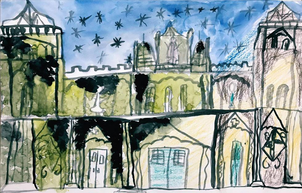 Giáo dân Bùi Chu phát hiện nhà thờ của mình lộng lẫy trên... ký họa - Ảnh 17.