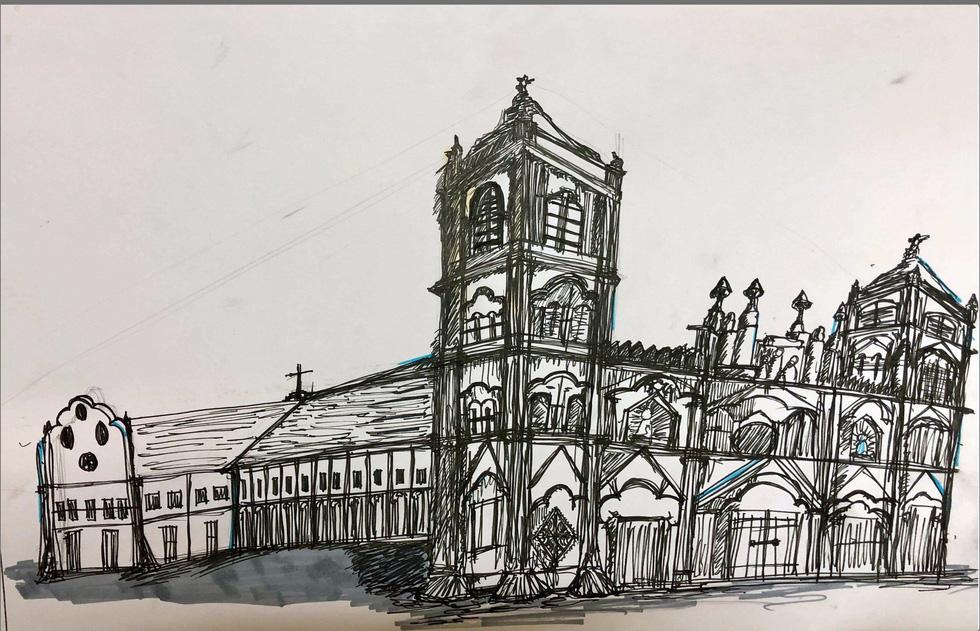 Giáo dân Bùi Chu phát hiện nhà thờ của mình lộng lẫy trên... ký họa - Ảnh 18.