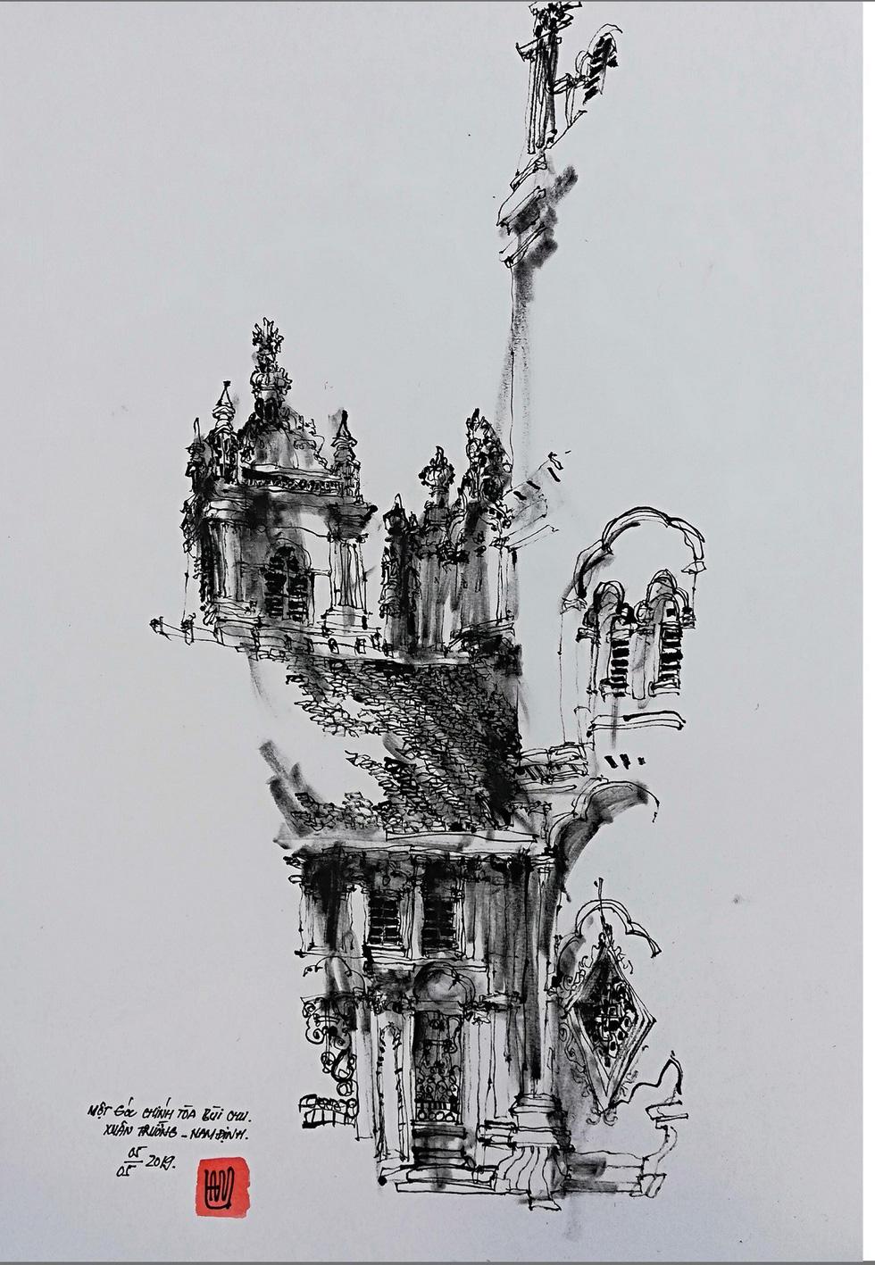 Giáo dân Bùi Chu phát hiện nhà thờ của mình lộng lẫy trên... ký họa - Ảnh 8.