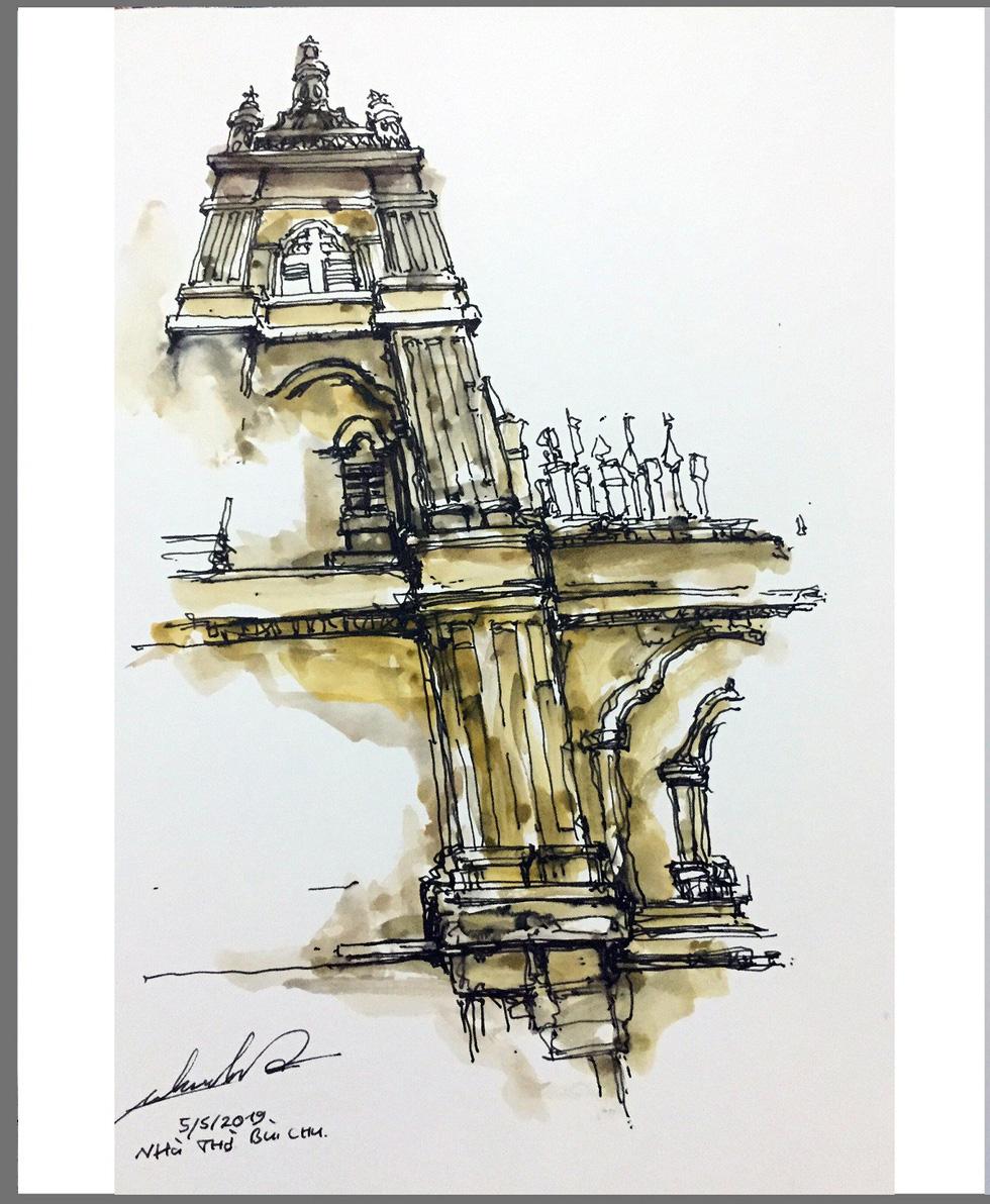 Giáo dân Bùi Chu phát hiện nhà thờ của mình lộng lẫy trên... ký họa - Ảnh 9.