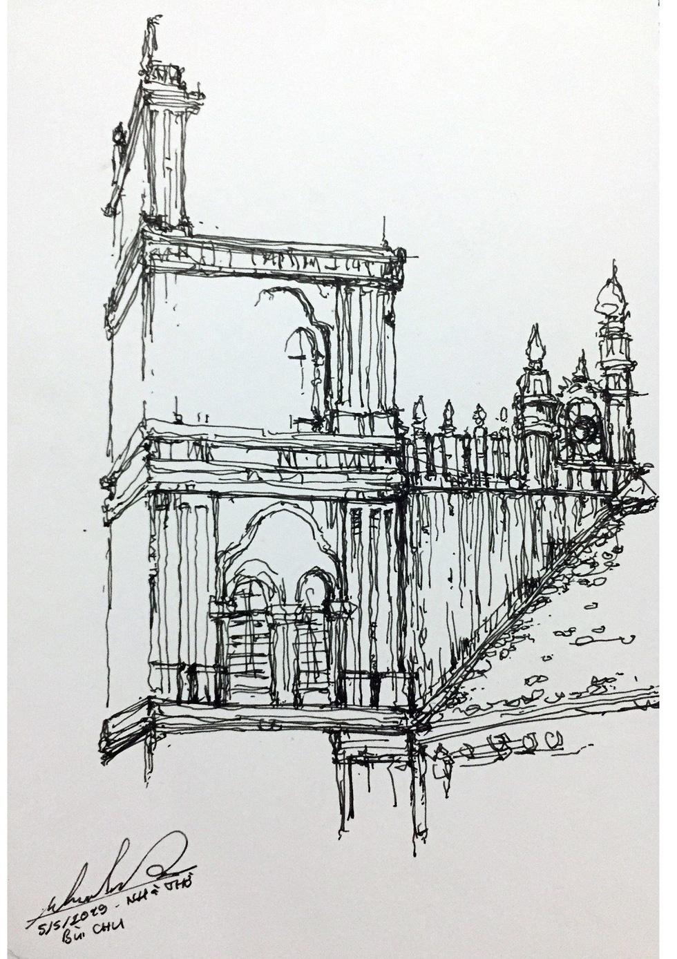 Giáo dân Bùi Chu phát hiện nhà thờ của mình lộng lẫy trên... ký họa - Ảnh 11.