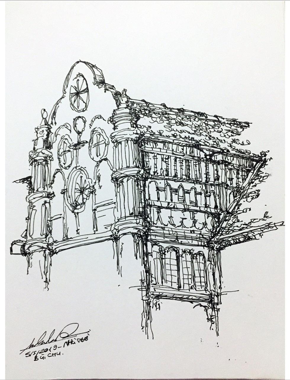 Giáo dân Bùi Chu phát hiện nhà thờ của mình lộng lẫy trên... ký họa - Ảnh 12.