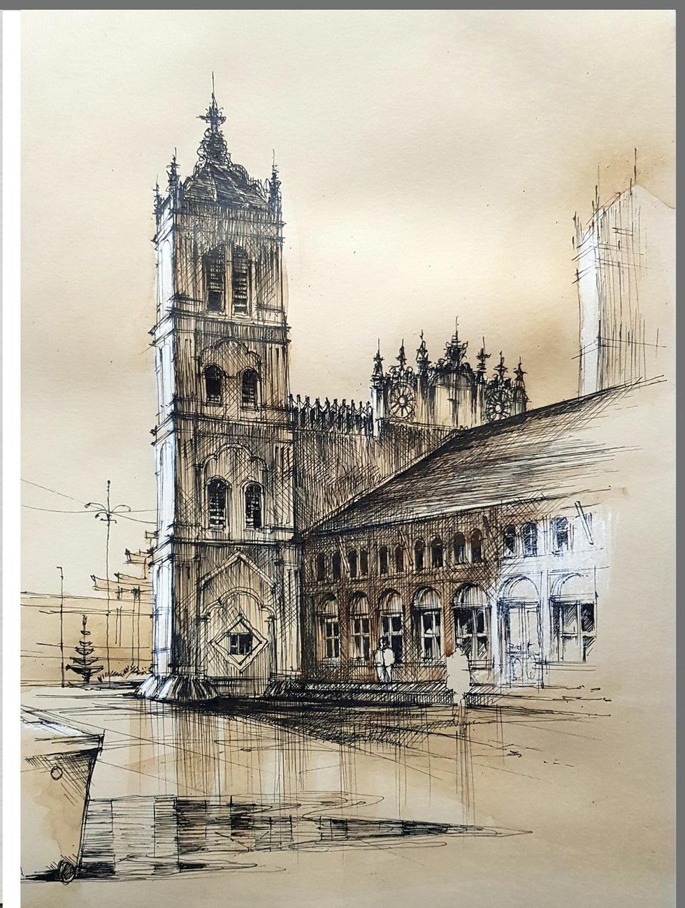 Giáo dân Bùi Chu phát hiện nhà thờ của mình lộng lẫy trên... ký họa - Ảnh 14.